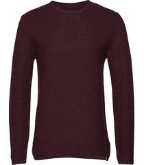 reiswood 2.0 gebreide trui met ronde kraag rood minimum