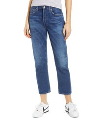 women's citizens of humanity crop straight leg jeans, size 32 - blue