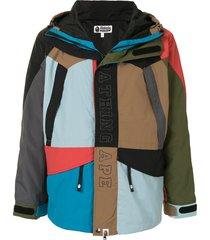 a bathing ape® cordura colour-block snowboard jacket - multicolour