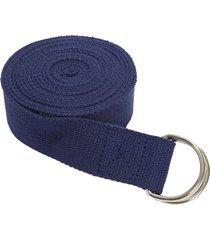 everyday yoga 10 foot strap d-ring true navy blue nylon