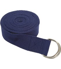 everyday yoga 10 foot strap d-ring true navy blue nylon