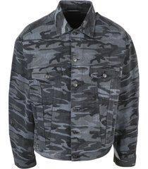 balenciaga camou large fit jacket