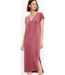 loft lou & grey signature softblend v-neck midi dress