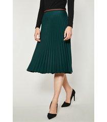 zielona spódnica plisowana metu