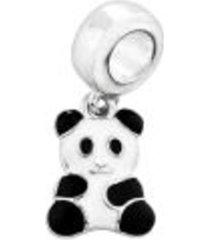 berloque lua pratas panda