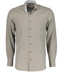 jac hensen premium overhemd - slim fit- bruin