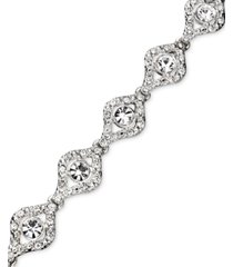 charter club crystal link bracelet, created for macy's