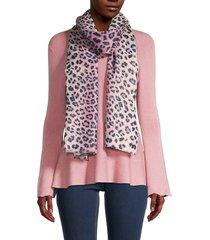 saachi women's wild at heart leopard-print wool-blend scarf - pink