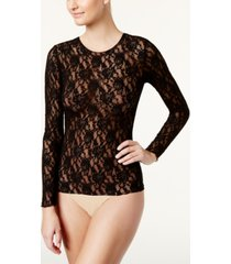 hanky panky long-sleeve lace top 128l