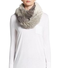 two-tone fur scarf