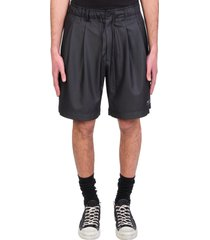 attachment shorts in black polyester