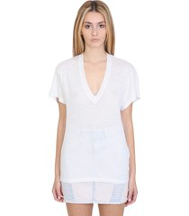 iro heloise t-shirt in white linen