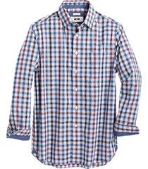 joseph abboud raspberry multi check sport shirt