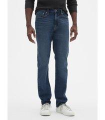 jeans slim straight medium indigo hombre azul gap gap