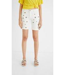 jean shorts mandalas - white - 34