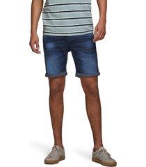 men's jack & jones rick icon ge 011 knit denim shorts, size large - blue
