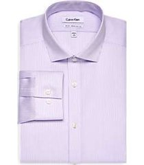 calvin klein infinite non-iron lavender stripe slim fit dress shirt