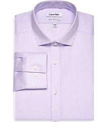 calvin klein infinite non-iron lavender stripe slim fit dress shirt