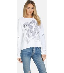 disney princess lee pullover - white xl