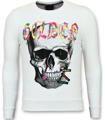 sweater enos doodskop golden skull