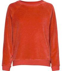 martha velour sweatshirt sweat-shirt trui oranje lexington clothing