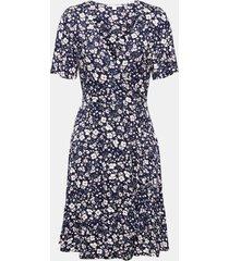 vestido con estampado de flores azul marino esprit
