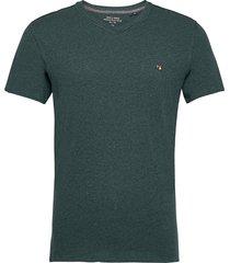 jprbluwilhelm tee ss v-neck t-shirts short-sleeved grön jack & j s