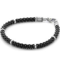 women's lagos 'black & white caviar' bracelet