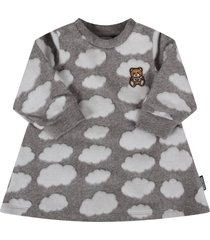 moschino grey dress with clouds for baby girl