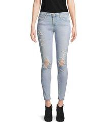 ag jeans women's super skinny ankle jeans - light blue - size 31 (10)