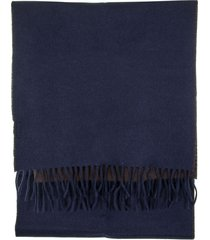 brunello cucinelli two tone fringed scarf
