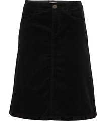 pzkelly skirt knälång kjol svart pulz jeans