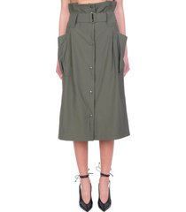 kenzo skirt in green cotton