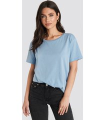 na-kd basic basic oversize t-shirt - blue
