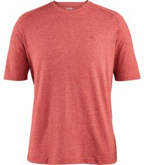 wolverine men's edge short sleeve tee (big & tall) dark red heather, size lt