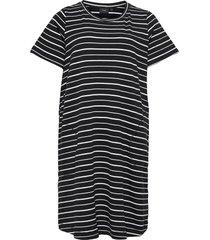 dress short sleeves plus stripes dresses everyday dresses svart zizzi