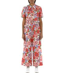 poppy belted safari jumpsuit