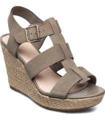 maritsa95 glad sandalette med klack espadrilles grön clarks