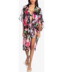 rachel rachel roy ombre floral kimono cover-up women's swimsuit