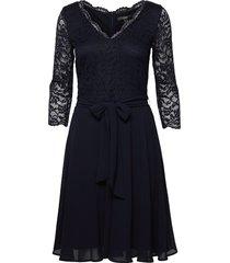 dresses knitted knälång klänning blå esprit collection