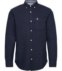 long sleeved cotton oxford shirt skjorta casual blå original penguin