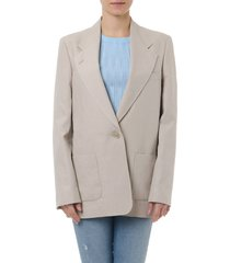 acne studios jana beige linen jacket