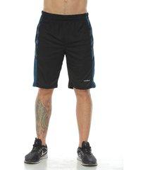 pantaloneta deportiva con licra interior, color negro para hombre
