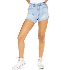 celebrity pink juniors' curvy fit cuffed denim shorts