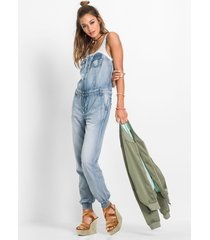 denim jumpsuit met kant