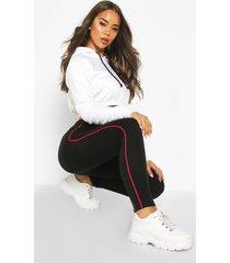 fleece lined side stripe super soft leggings