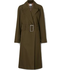 burberry camelford long cotton coat