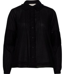 birgacr shirt långärmad skjorta svart cream