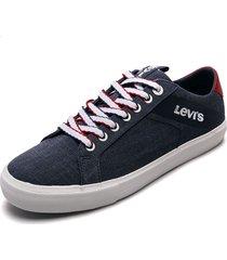 tenis azules-blancos levis woodwasrd l