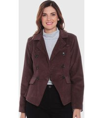 blazer wados cotele marrón - calce regular